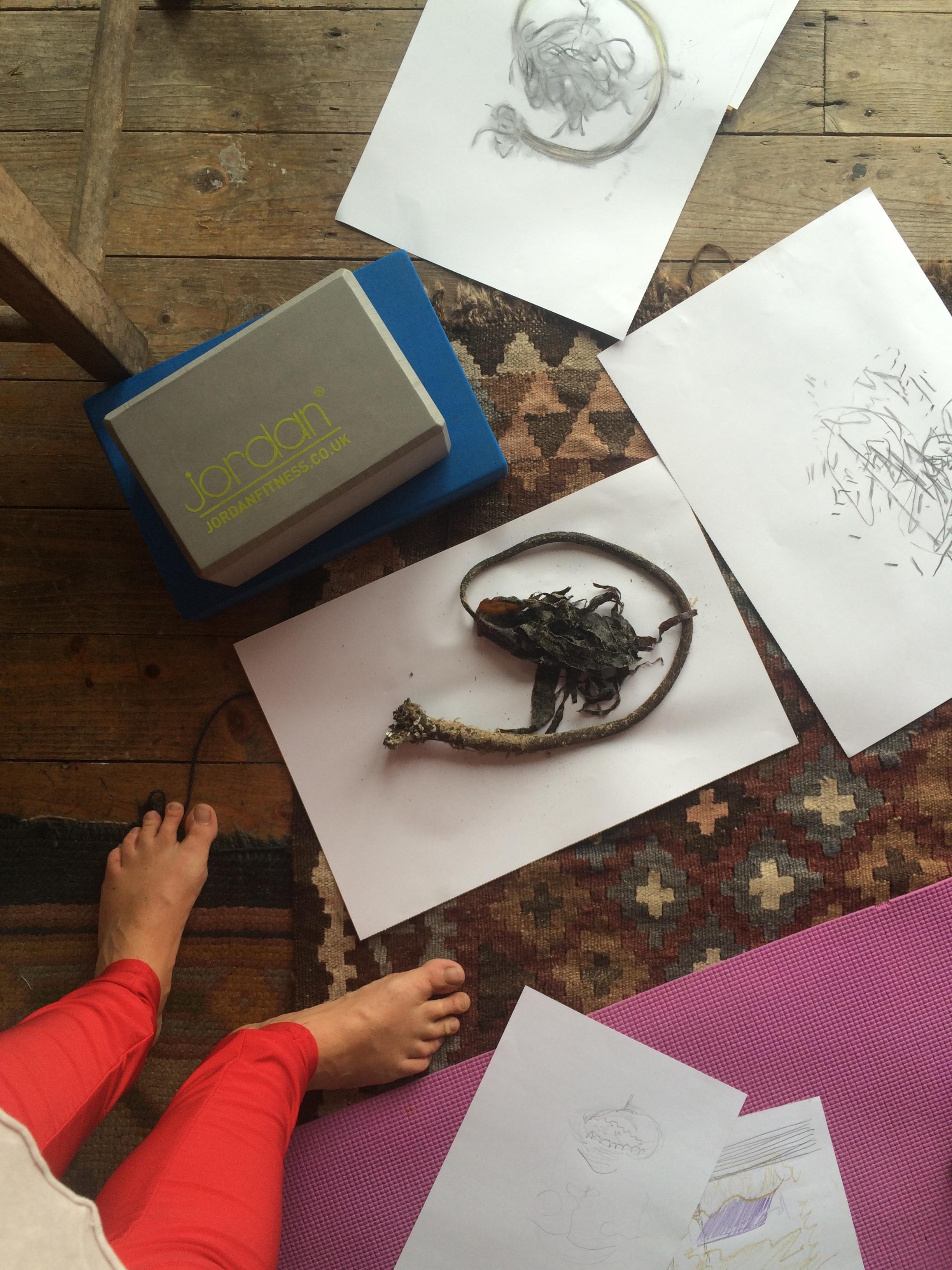 Yoga and Drawing Retreat, Bothar Bui 2017
