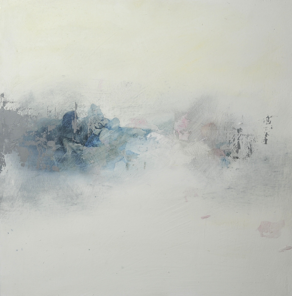 city under siege, mixed media on board
