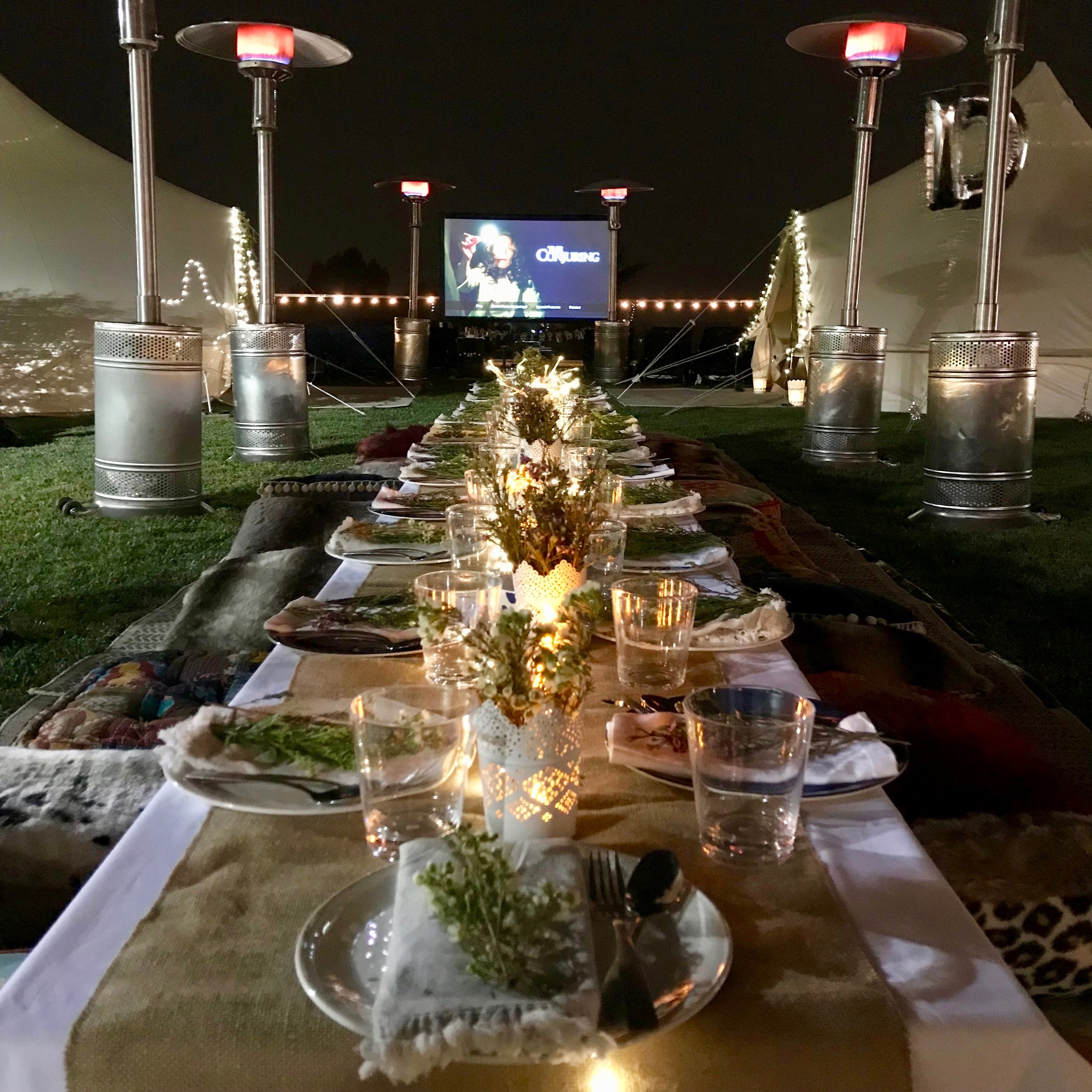 This is absolutely the best!!!The setting is stunning. - Daun D. Mother of 5 on our Dining, Outdoor Movie & GlampOut experience