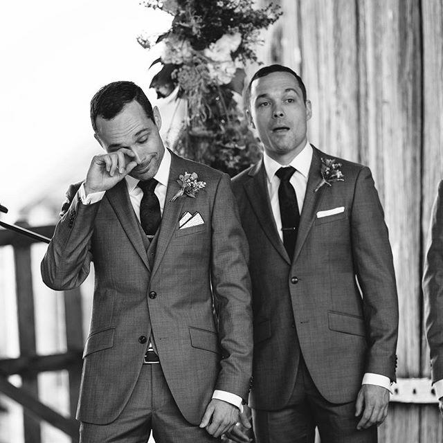 That moment when he sees his bride walk down the aisle #bride #groom #wedding #ceremony #stunningbride #happytears #sydneyweddingphotographer #huntervalleywedding #tocalhomestead #hillsweddingphotographer #aipp #aippaccreditedprofessionalphotographer
