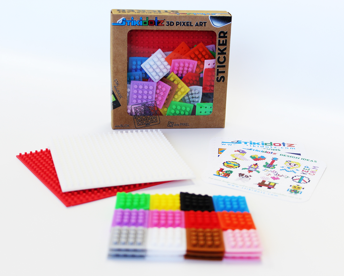 Starter Pack with Red and White Base and 36 dotzBLOKs
