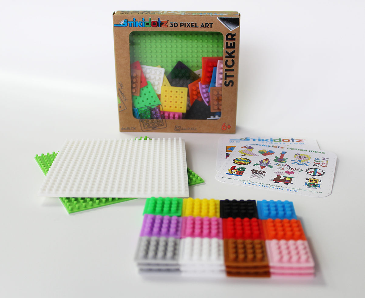 Starter Pack with Lime Green and White Base and 36 dotzBLOKs