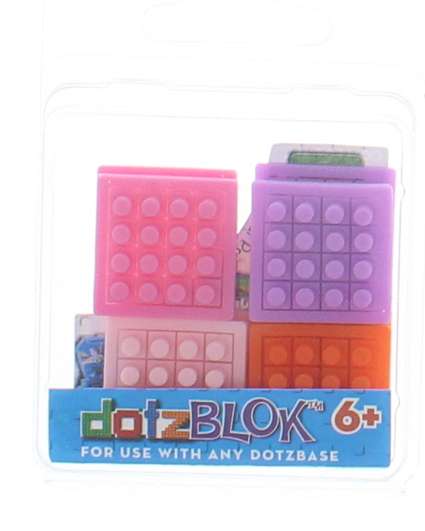Mixed Pack DotzBLOKS:2 each Hot Pink, Purple, Pink and Orange