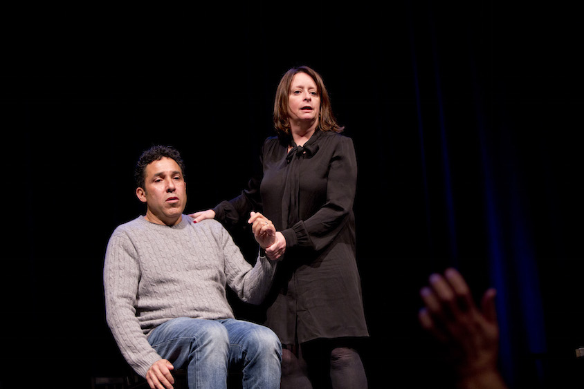 Oscar Nunez and Rachel Dratch at Theme Park at SF Sketchfest, January 28, 2017. Photo by Tommy Lau.