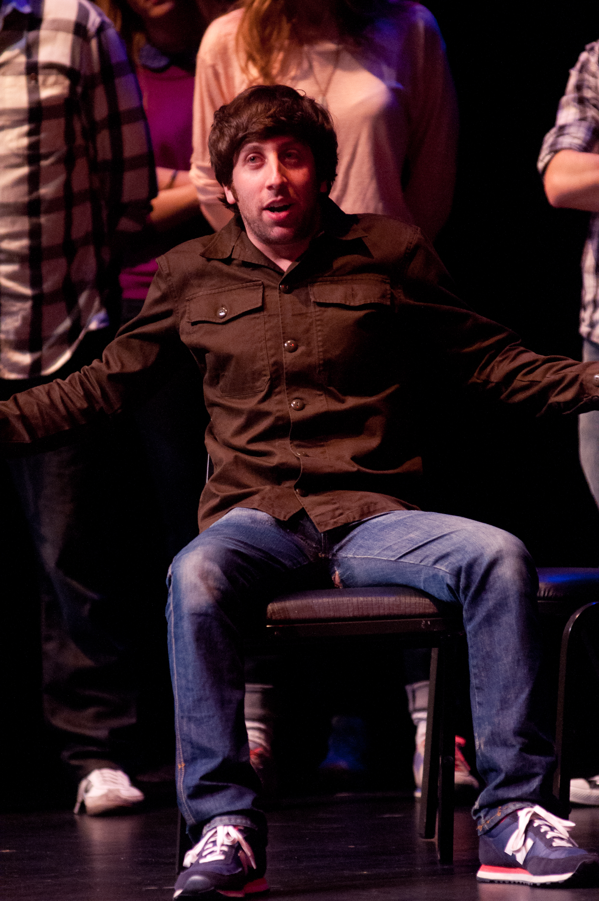 Simon Helberg at Theme Park Improv at SF Sketchfest, February 3, 2012. Photo by Ameen Belbahri.