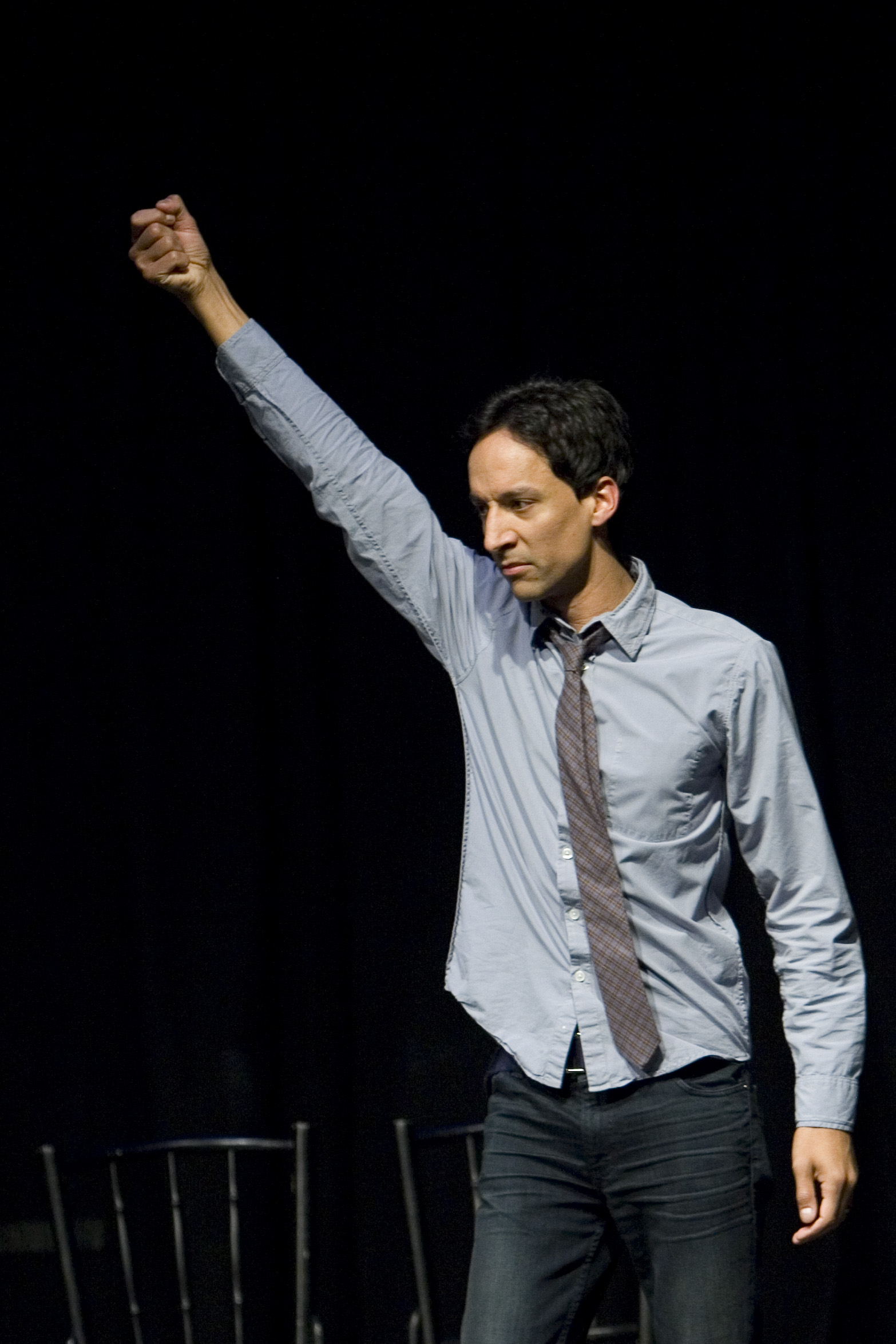 Danny Pudi at Theme Park Improv at SF Sketchfest, January 23, 2011. Photo by Tommy Lau.