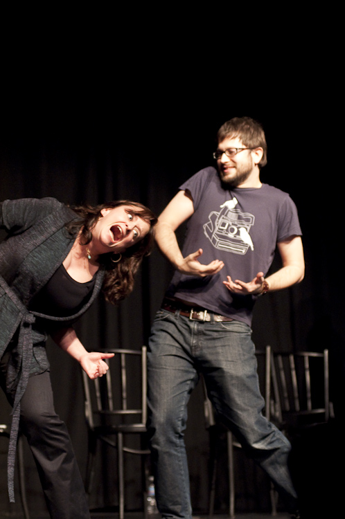 Rachel Dratch and Cole Stratton at Theme Park Improv at SF Sketchfest, January 29, 2010. Photo by Ameen Belbahri.