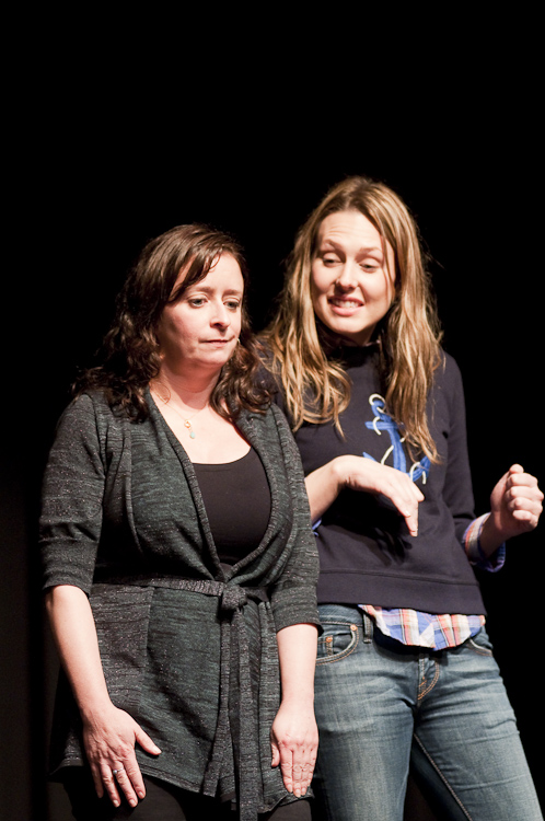 Rachel Dratch and Jessica Makinson at Theme Park Improv at SF Sketchfest, January 29, 2010. Photo by Ameen Belbahri.