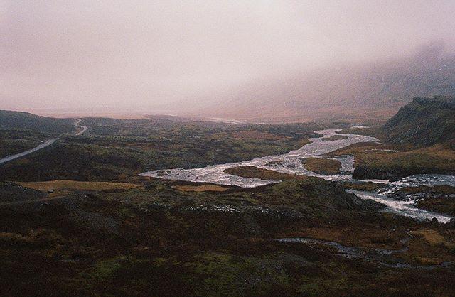 Iceland. River & Road. . . . . #traveliceland #fairytales #hiddenpeople #filmphotography #minox35gt #kodakportra #filmisnotdead #colorphotography #landscape