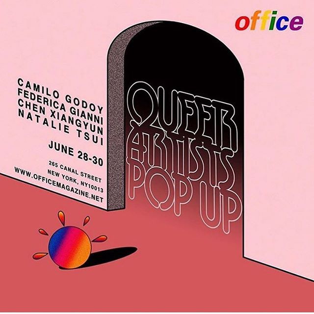 #Repost @natalietshirt with @get_repost ・・・ This weekend, @officenewsstand is hosting a 🌈 queer pop-up showcasing works by @camilogodoy @dedegianni @humanbeef and yours truly 😊 June 28th-30th @canalstreetmarket 267 Canal. Come scope out our books, zines, and prints ✨
