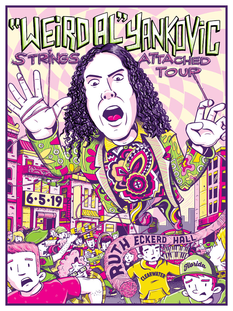 """Weird Al """"No Strings Attached"""" Tour Poster"""