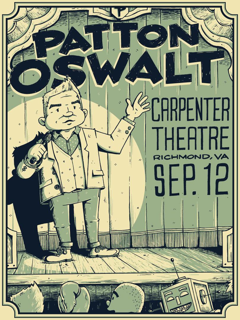 Patton Oswalt Carpenter Theatre Poster