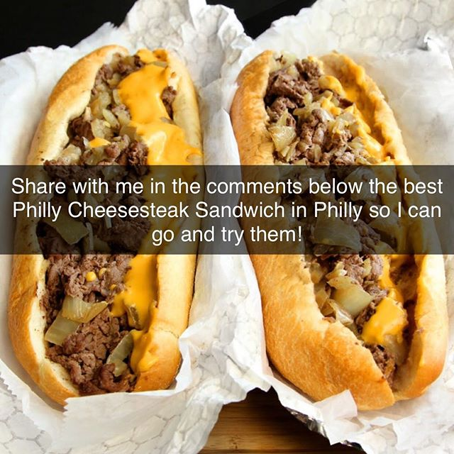 Where are my Philly people at? Please share with me in the comments below so that I can experience the best Philly cheesesteak sandwich on the planet on Philly! Thank you all!