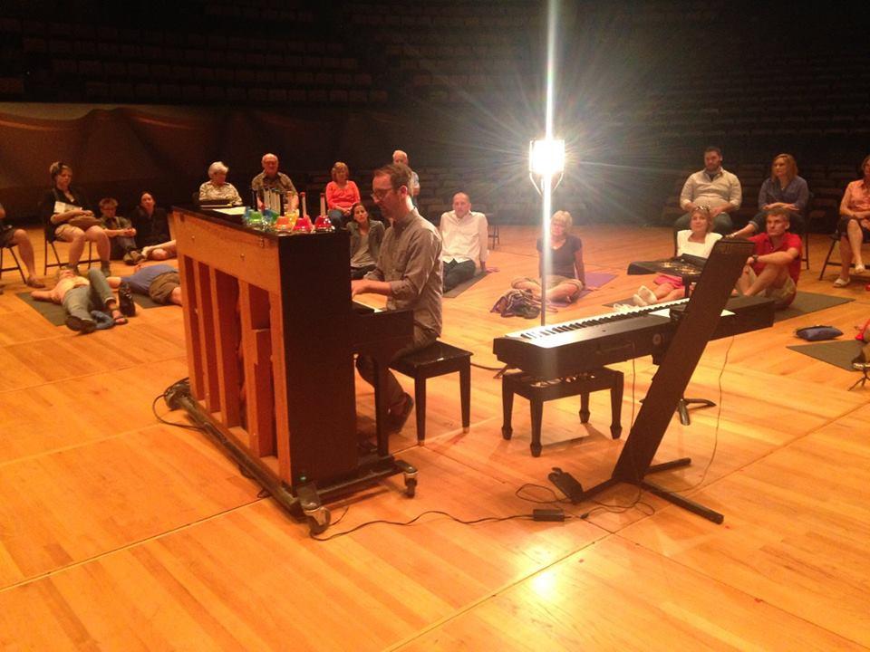 David Bernabo performs.