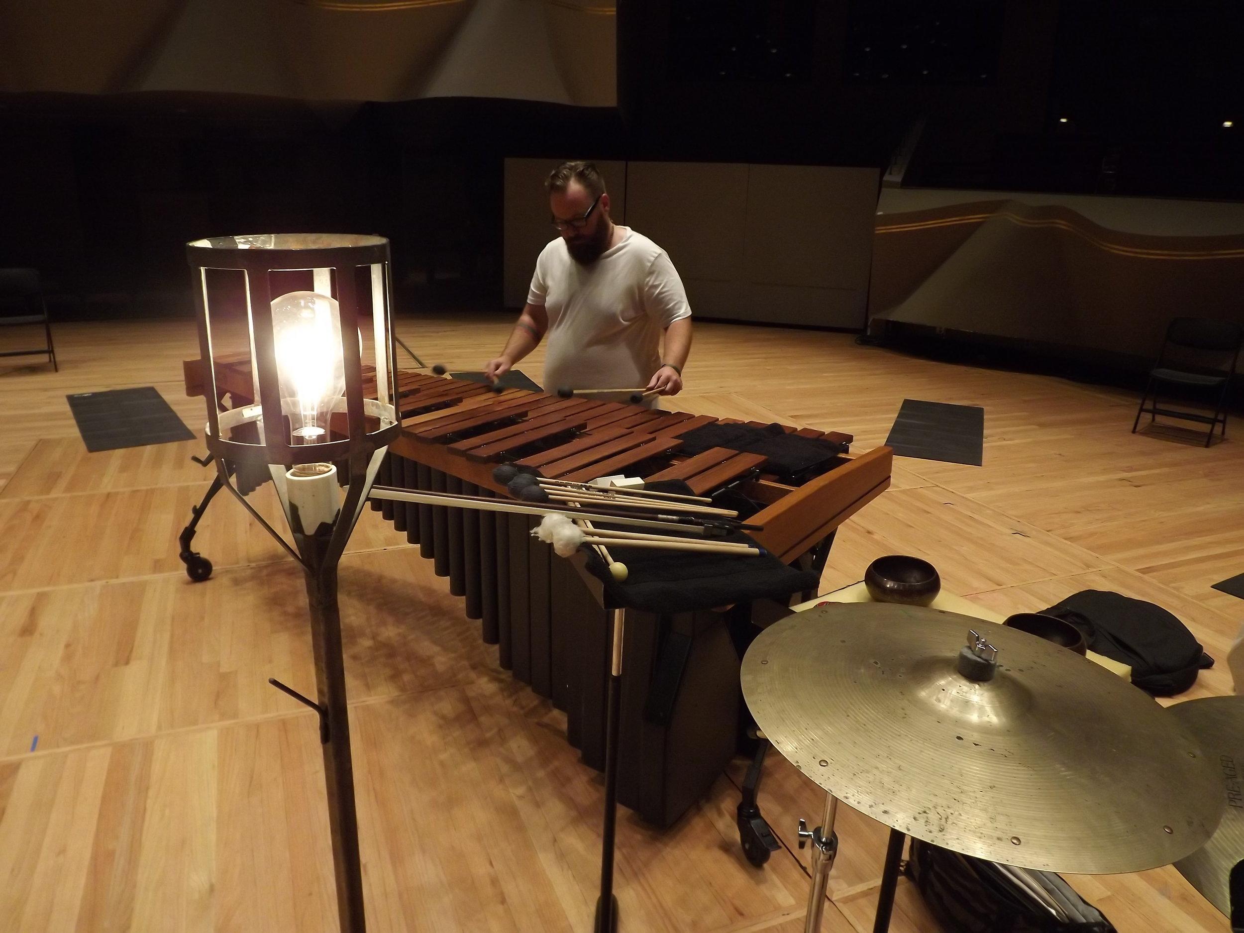 Luke Wachter performs.