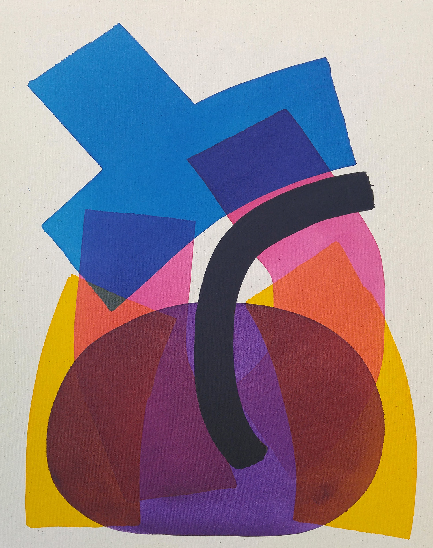 ARON HILL, Colour Blocks 1, ink & paint on prepared raw canvas, 30 x 24 in.