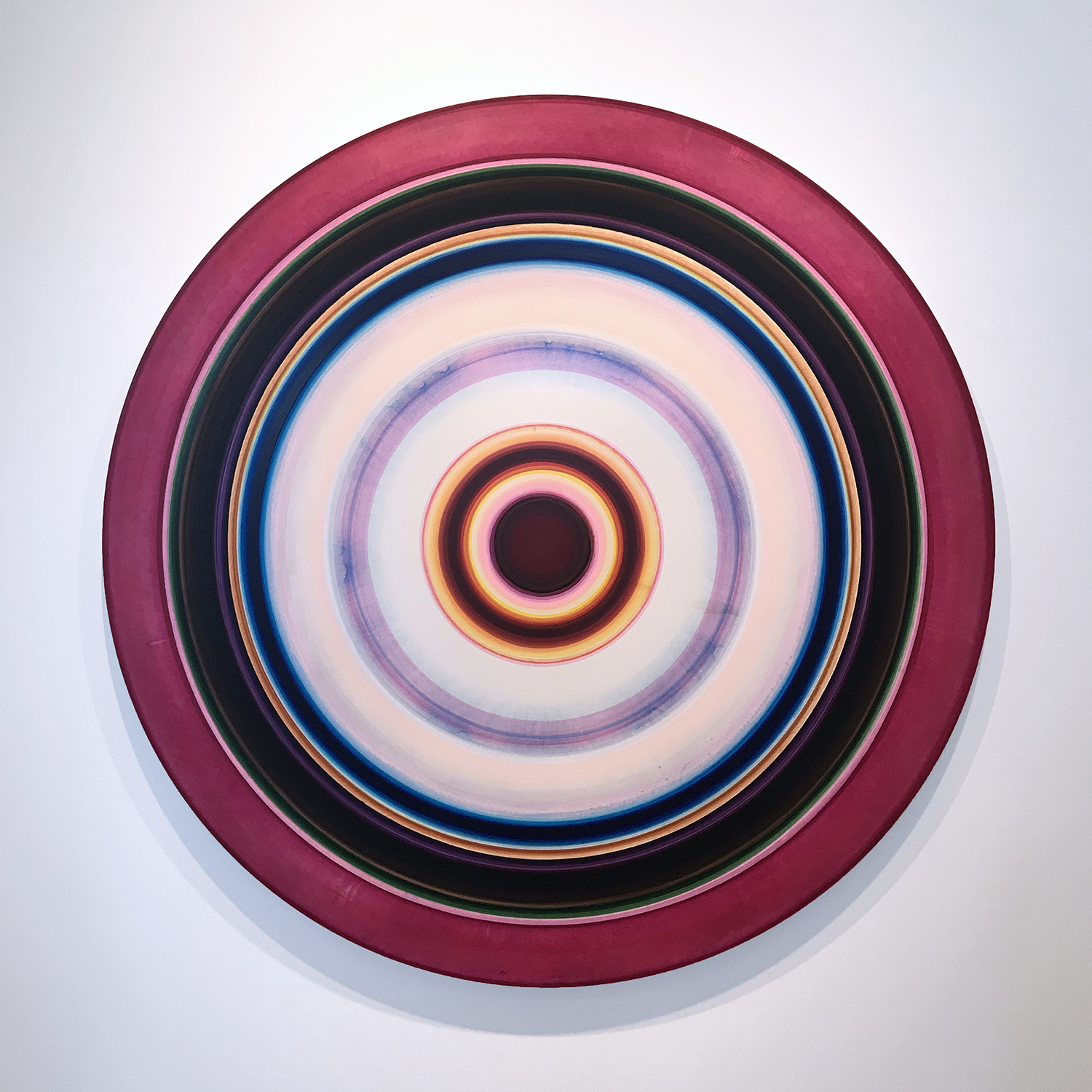 Ulrich Panzer, untitled (18-60-1), acrylic on aluminum, 60 in. diameter