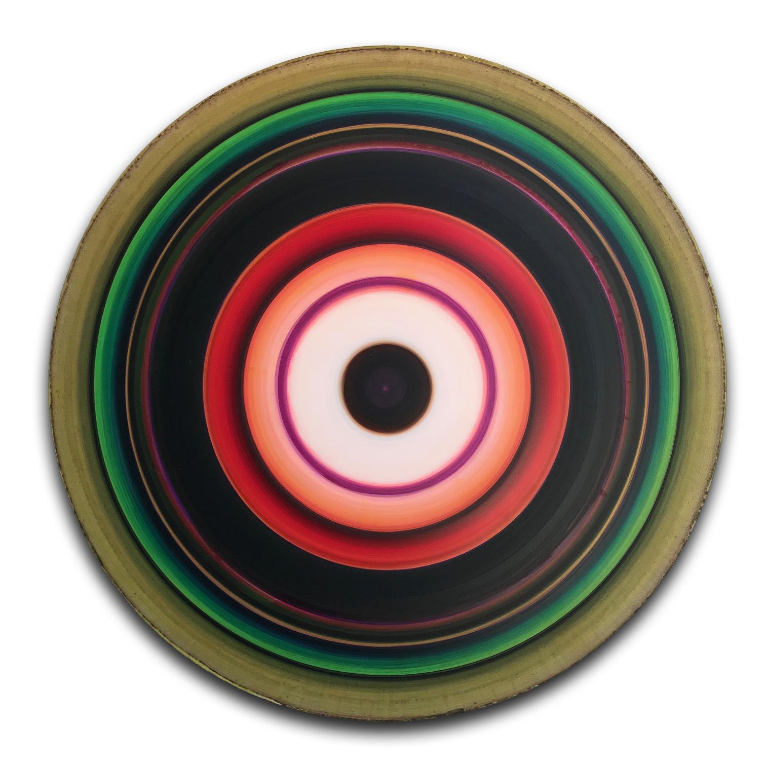 untitled (16-48-1), acrylic on aluminum, 48 in. diameter