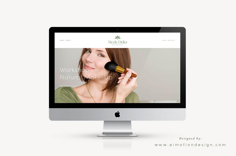 Squarespace Webdesign made by eimotiondesign.com