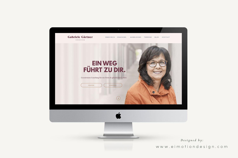 Wordpress Webdesign designed by eimotiondesign.com / Programmierung Markus Bühler