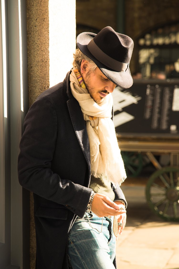 Wool hat, cashmere printed scarf-matteo-perin.jpg