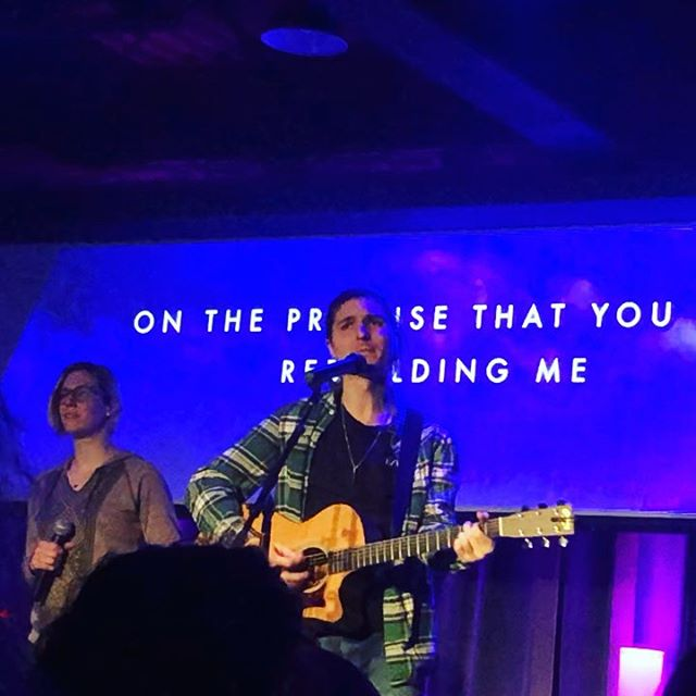 You brought the light into the room and filled my lungs so I could learn to breathe again. Rebuilder. Restorer. @carrolltonband  Loved getting to sing this song during this series at @lcbcchurch ❤️ and some buttery harms from @dat_cass_tho !👌🏻