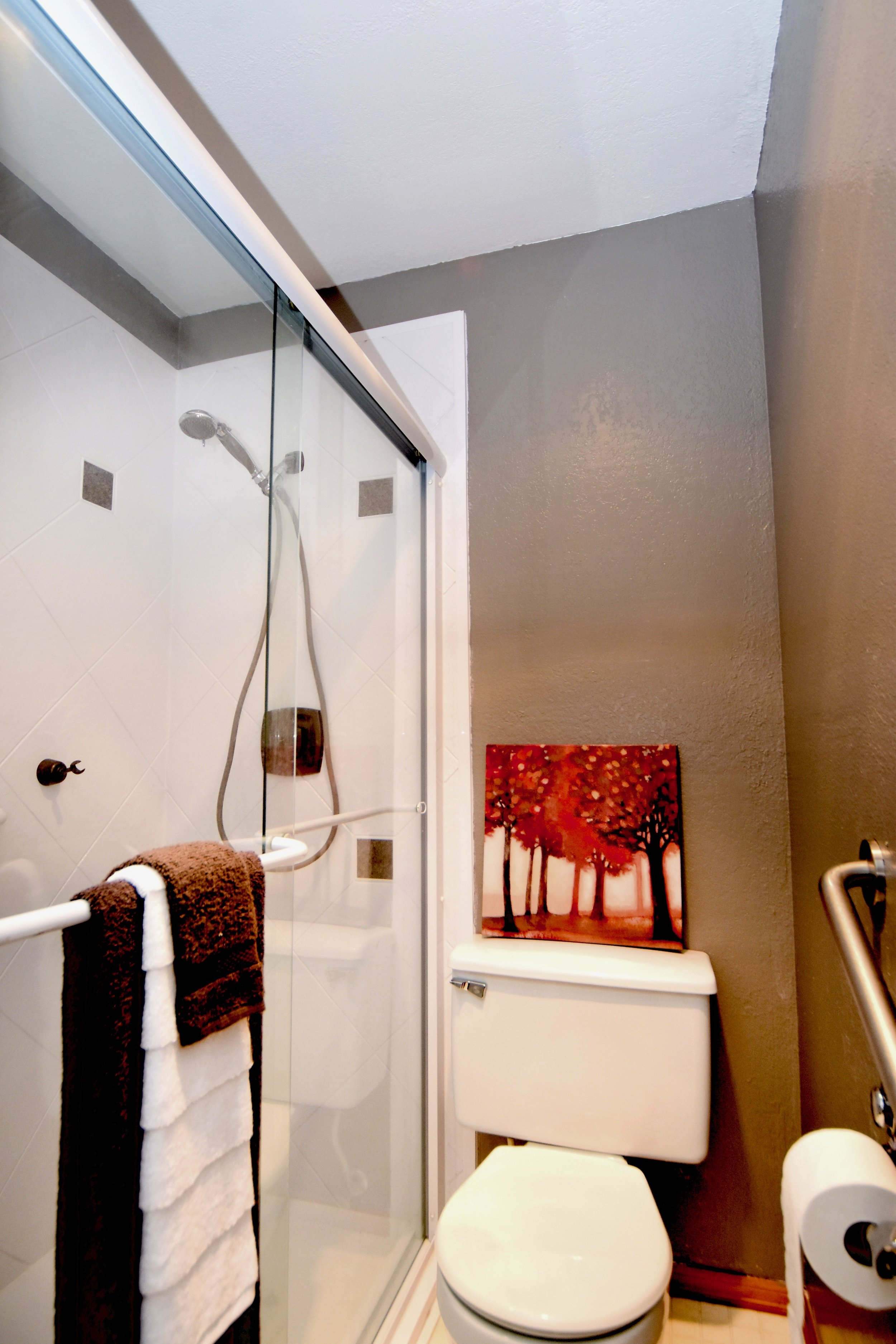 Enjoy this renovated and spacious walk-in shower!