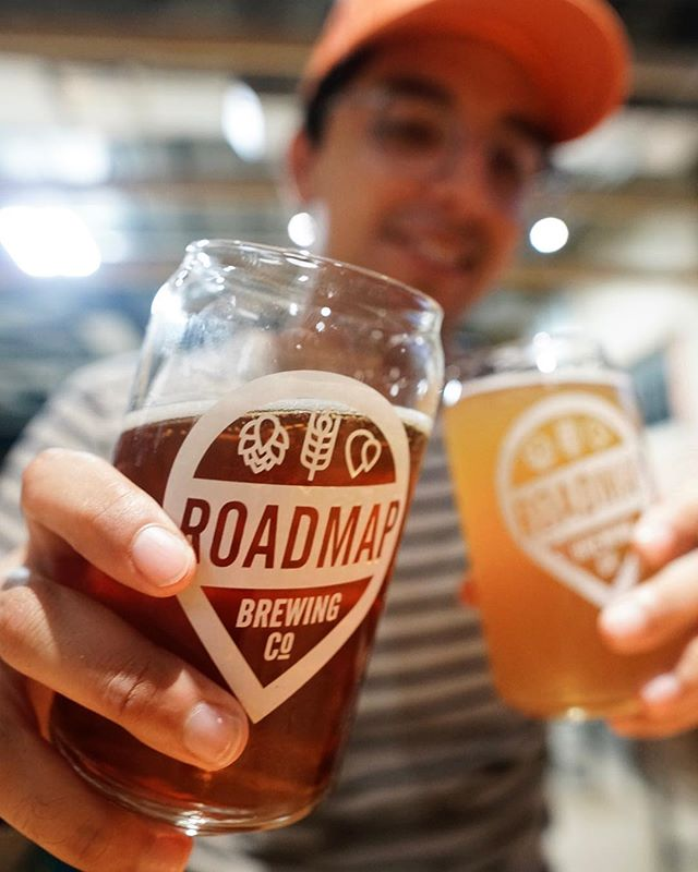 Rainy friday nights mean staying indoors - luckily @roadmapbrewing is indoors 🍻🍻 #SAFoodE