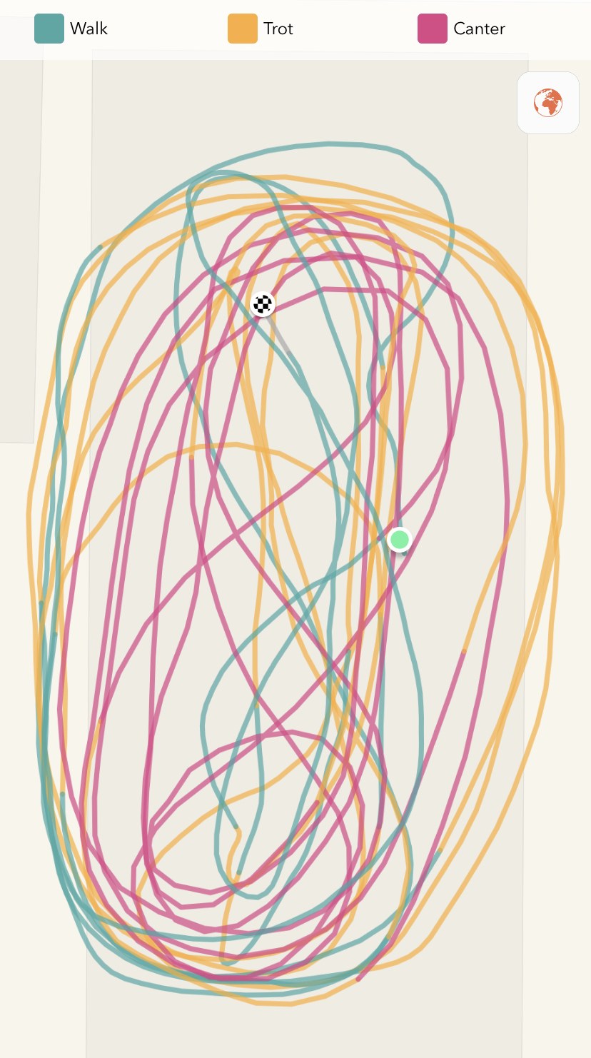 Diagram of our ride discussed above, as you can see, lots of direction changes and transitions.