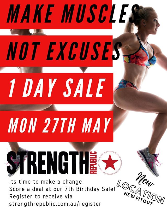 Join us for our Birthday Sale Event!! . Register via link in bio 🙌 . #strengthrepublic #videography #fitness #fit #motivation #gym #fitnessmotivation #workout #bodybuilding #instagood #health #training #photooftheday #lifestyle #gymmotivation #instagram #healthy #strong #exercise #fitfam #fitnessaddict #instafit #fitspo #cardio