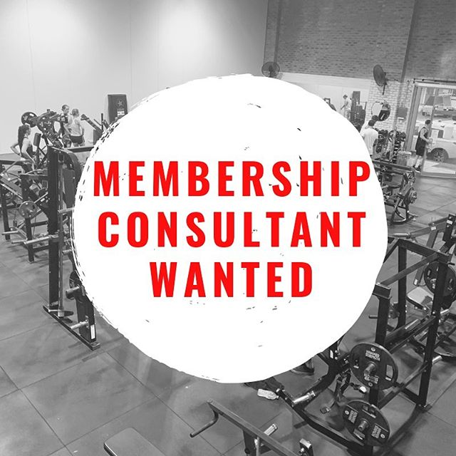 Membership Consultant Wanted: Proven sales experience essential. Ability to devise and implement sales strategies. Friendly, outgoing personality. Ability to work unsupervised. Self motivated and able to work towards and meet goals.  Sound like you? Apply here: https://www.strengthrepublic.com.au/apply-here