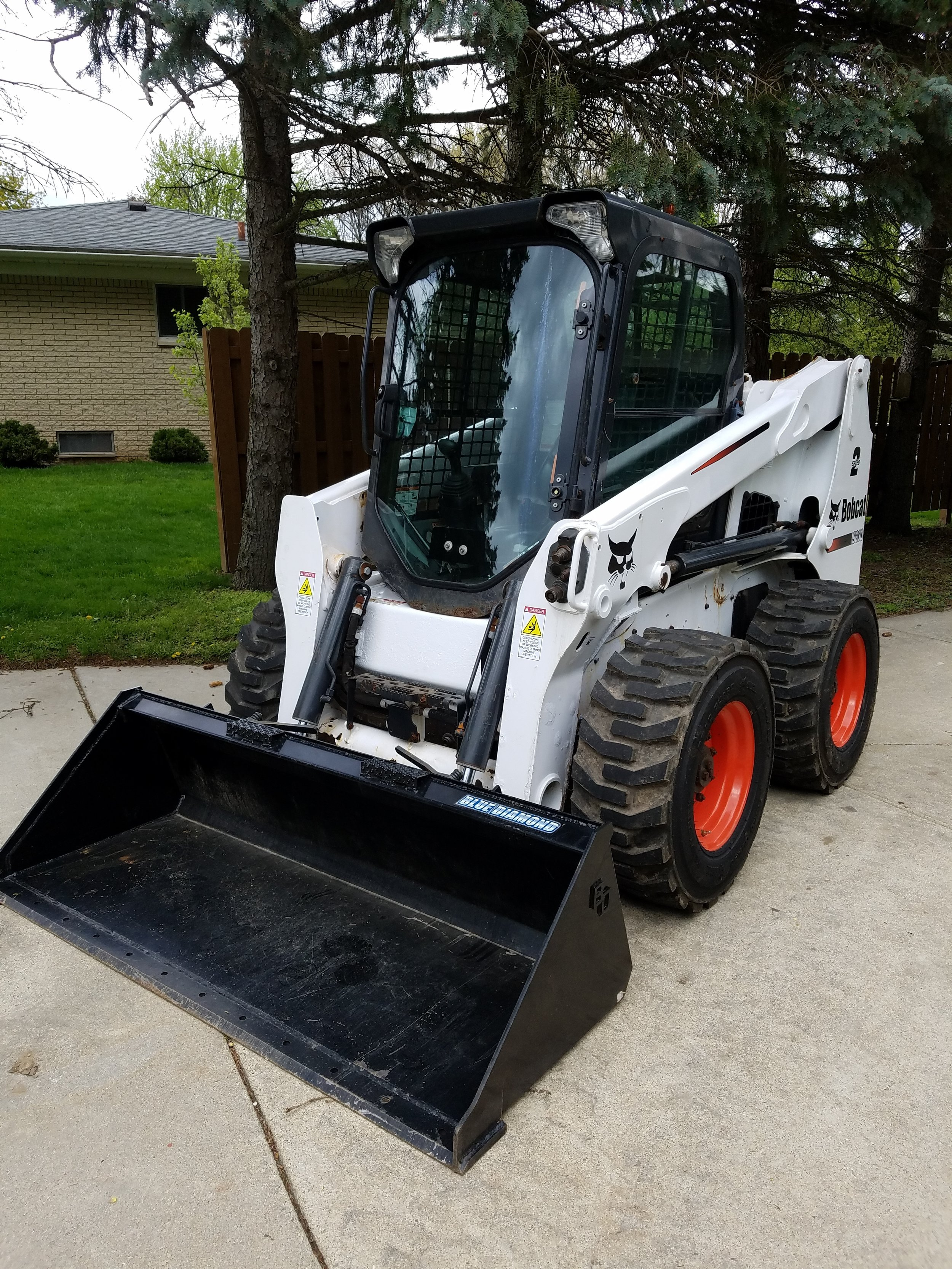 2012 Bobcat S630 Skidsteer | 865 hours | EROPS Cab | Hand and/or Foot control option | Heat & AC option included | New bucket | Newer wheels and tires | $28,500.00