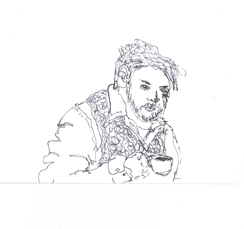 Ernest at Cafe Largo.   Artist: Unknown