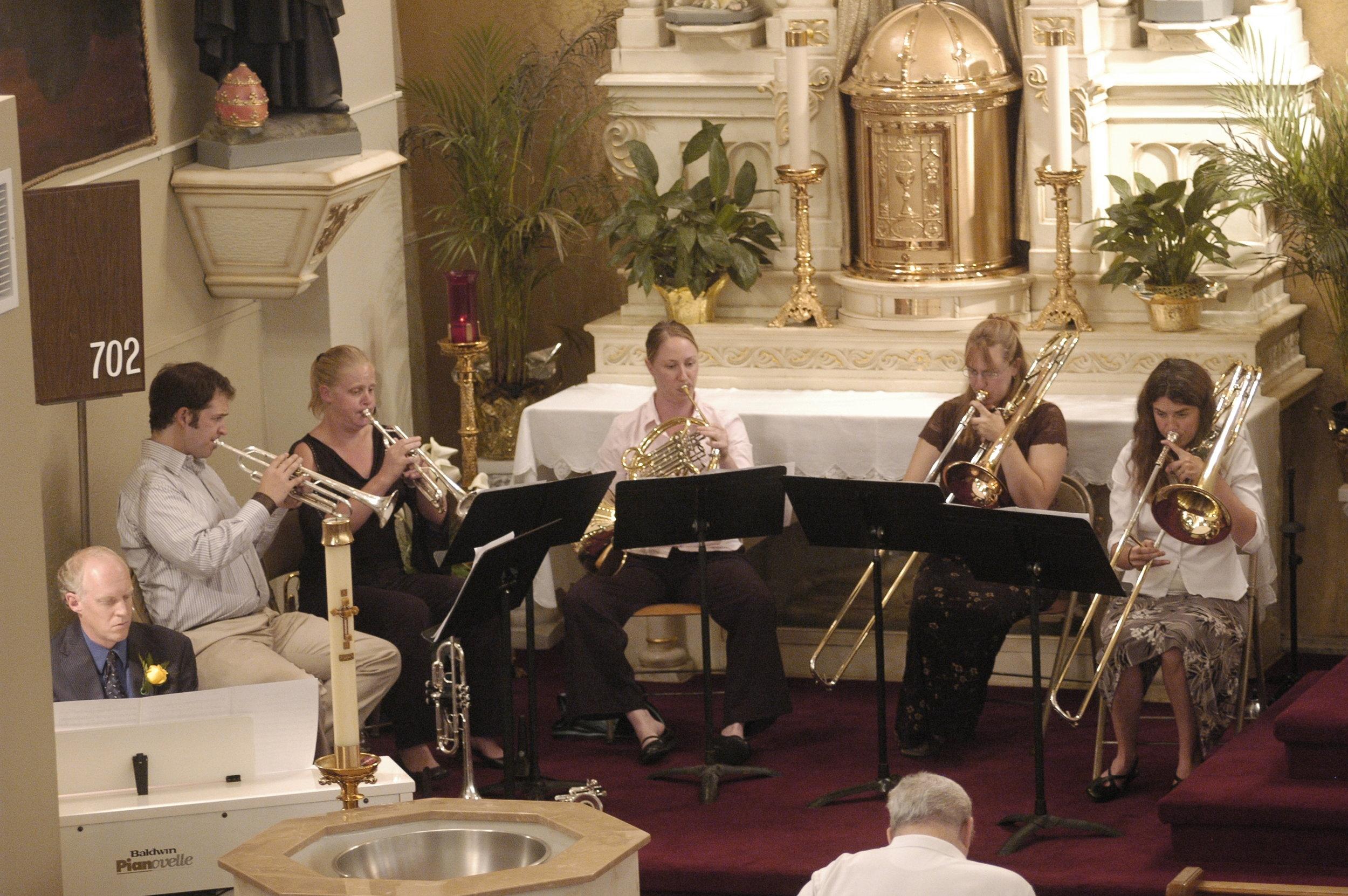 La Bella Brass Quintet.   Photo: Dale LaGrange