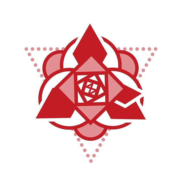 This is a conceptual logo and vinyl design inspired by sacred geometry. The design is intended to be used for a modern indie artist with the name Crimson 8.