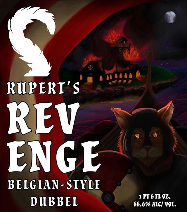 This has been such a fulfilling project for me. Cats, Vikings, and some Brain Jacques inspiration. What could be better? I present to you the promised beer label intended to decorate the beer my partner and I brewed earlier this year.  The Crocked Cat Brewing -  Rupert's Revenge Dubbel