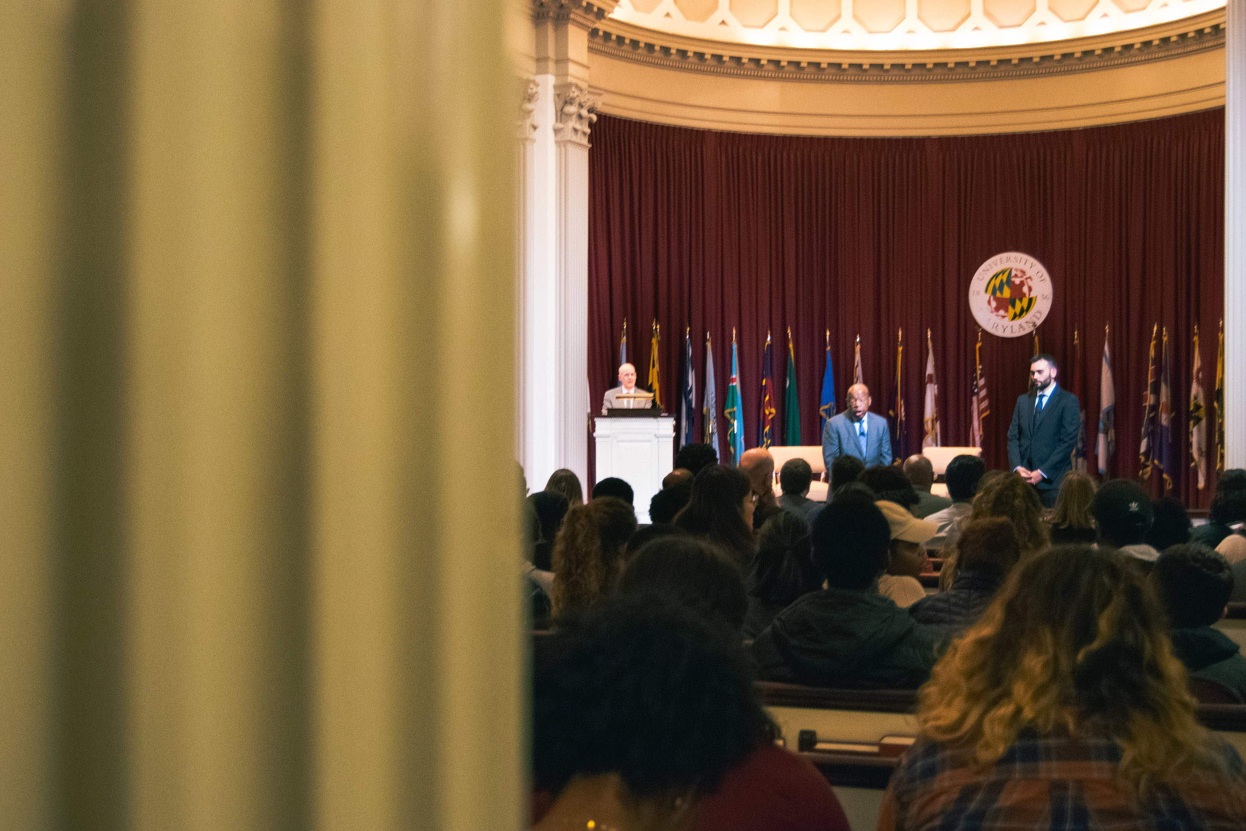 Students from all walks of life filled the pews of Memorial Chapel to hear a personal account of the Student Nonviolent Coordinating Committee's (SNCC) work on the voting rights campaign that spanned from Selma to Montgomery, Alabama.