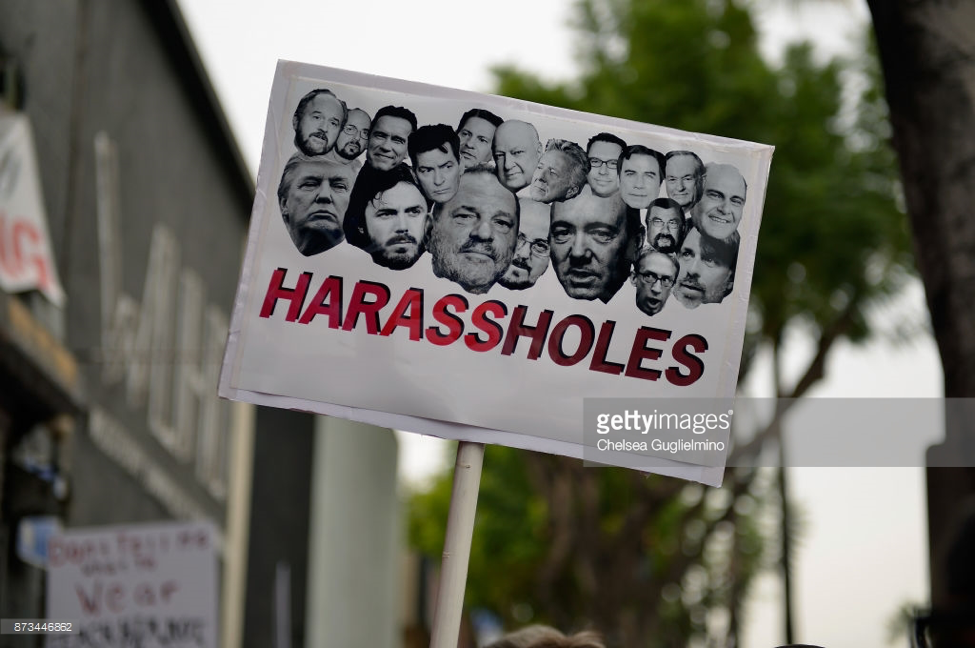 A sign displayed by a protester at the Take Back the Workplace march and #MeToo march in Hollywood,CA.