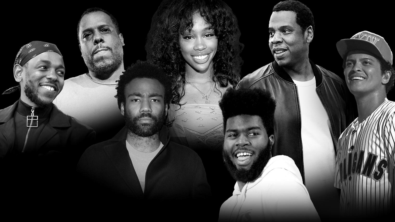 Nominees for the 60th Grammy awards highlight a change in diversity for award shows. Picture from Grammy.com
