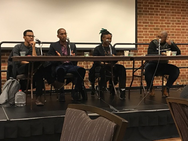 Panelists take turns answering questions from the audience (Jazmin Conner/For The Black Explosion)