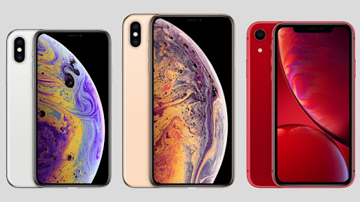 Three new iPhone models are pictured from left to right, iPhone XS, iPhone XS Max, and iPhone XR. (Photo courtesy of Apple)