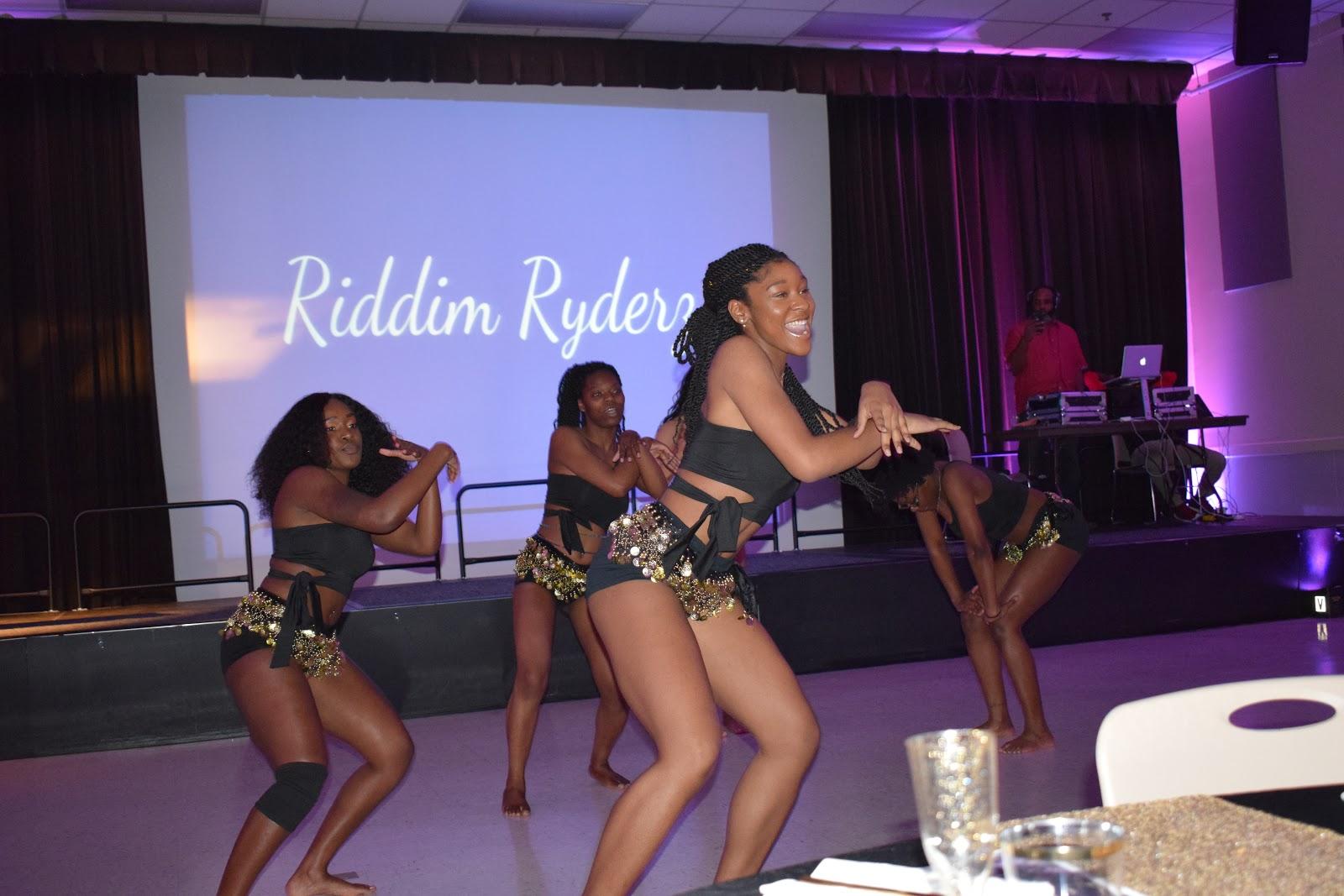 Riddim Ryderz putting on a performance in the Nyumburu Cultural Center. (Sydney Bullock/The Black Explosion)