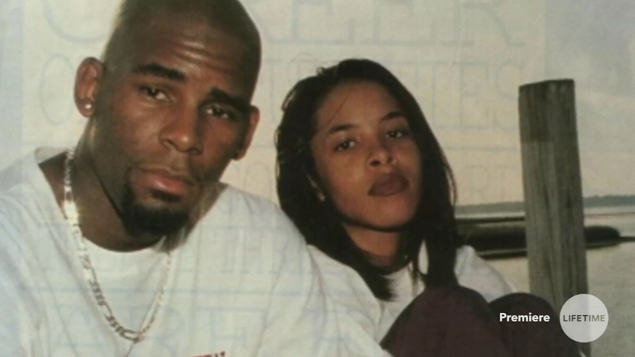 Photo of a young Aaliyah and R Kelly during their relationship. Photo obtained from Lifetime
