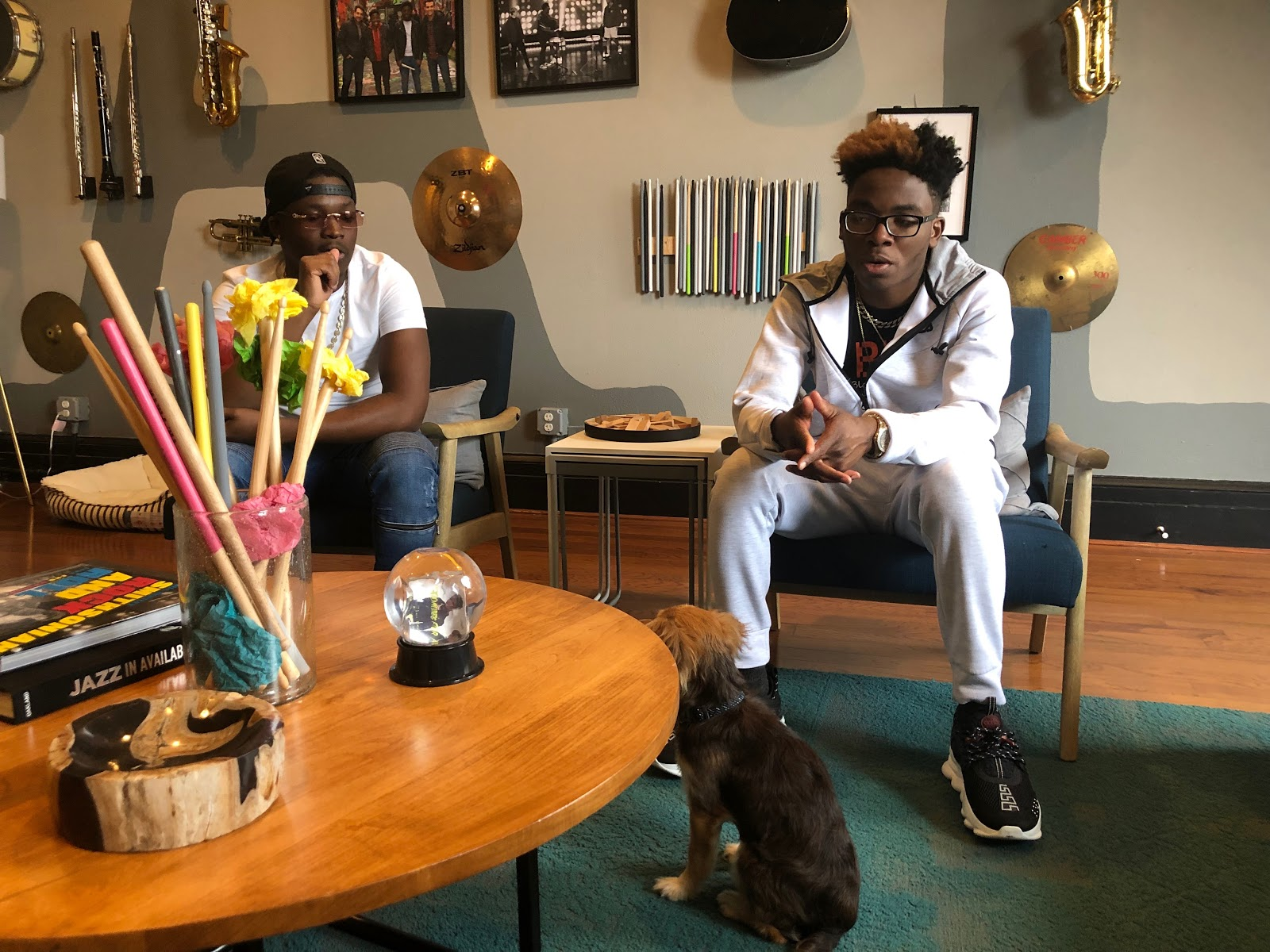 Fletcher is explaining, in their apartment in downtown Baltimore, their journey before fame. (Ndeye Aminata Ndiaye)