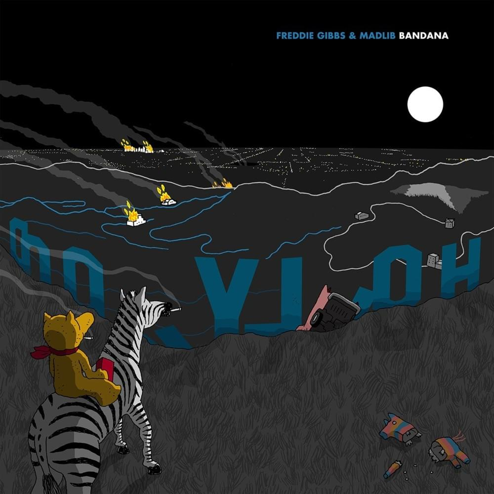 """Freddie Gibbs and Madlib's """"Bandana"""" cover art. Obtained from Genius."""