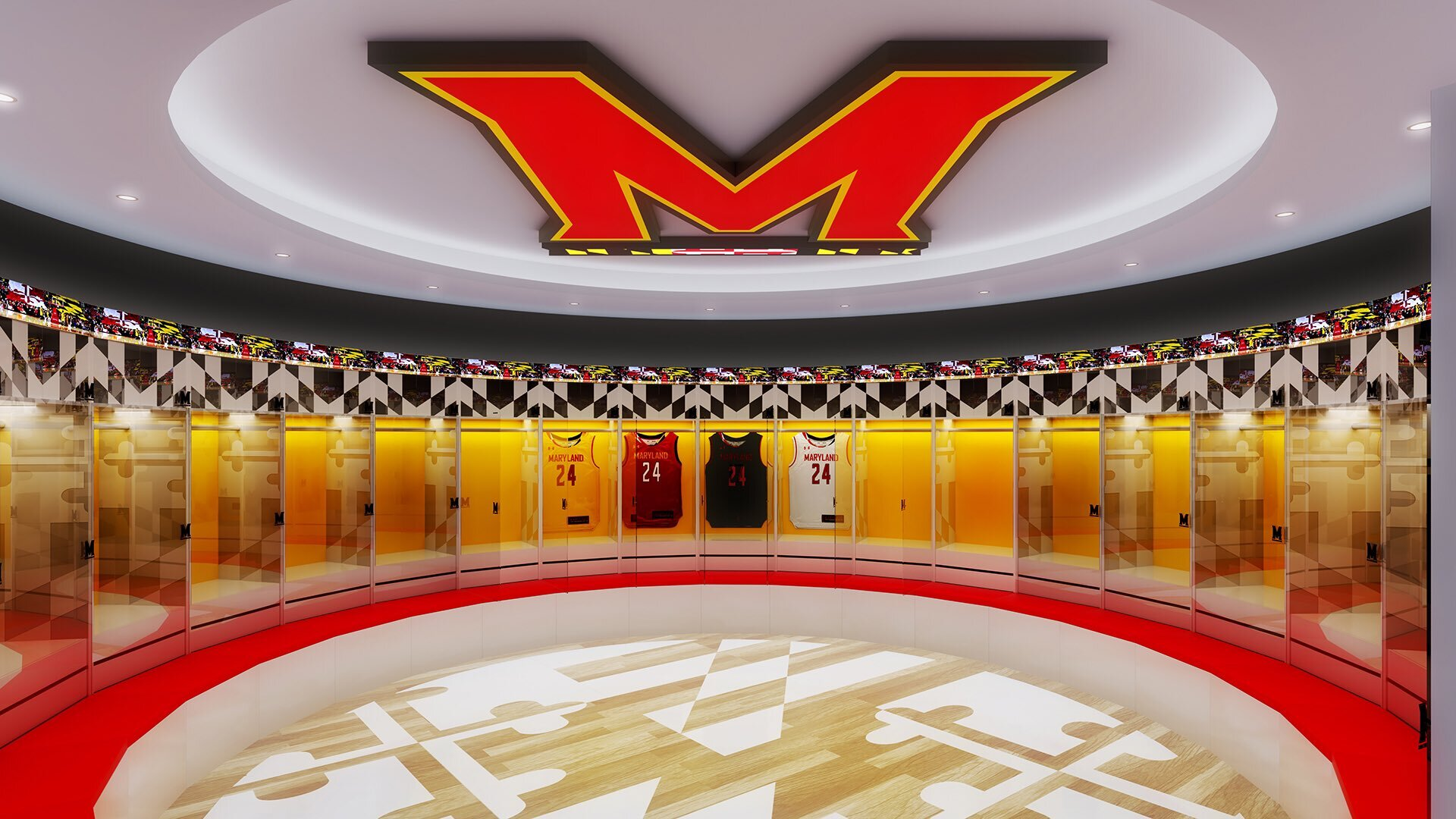 Along with the upgraded locker rooms, it will feature two separate indoor practice courts and a hallway that illustrates the history of Maryland basketball over the seasons. (Maryland Athletics)