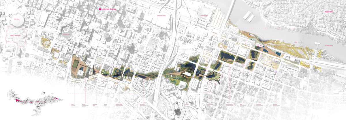 Graduate Thesis Project - Masterplan for Memphis, TN