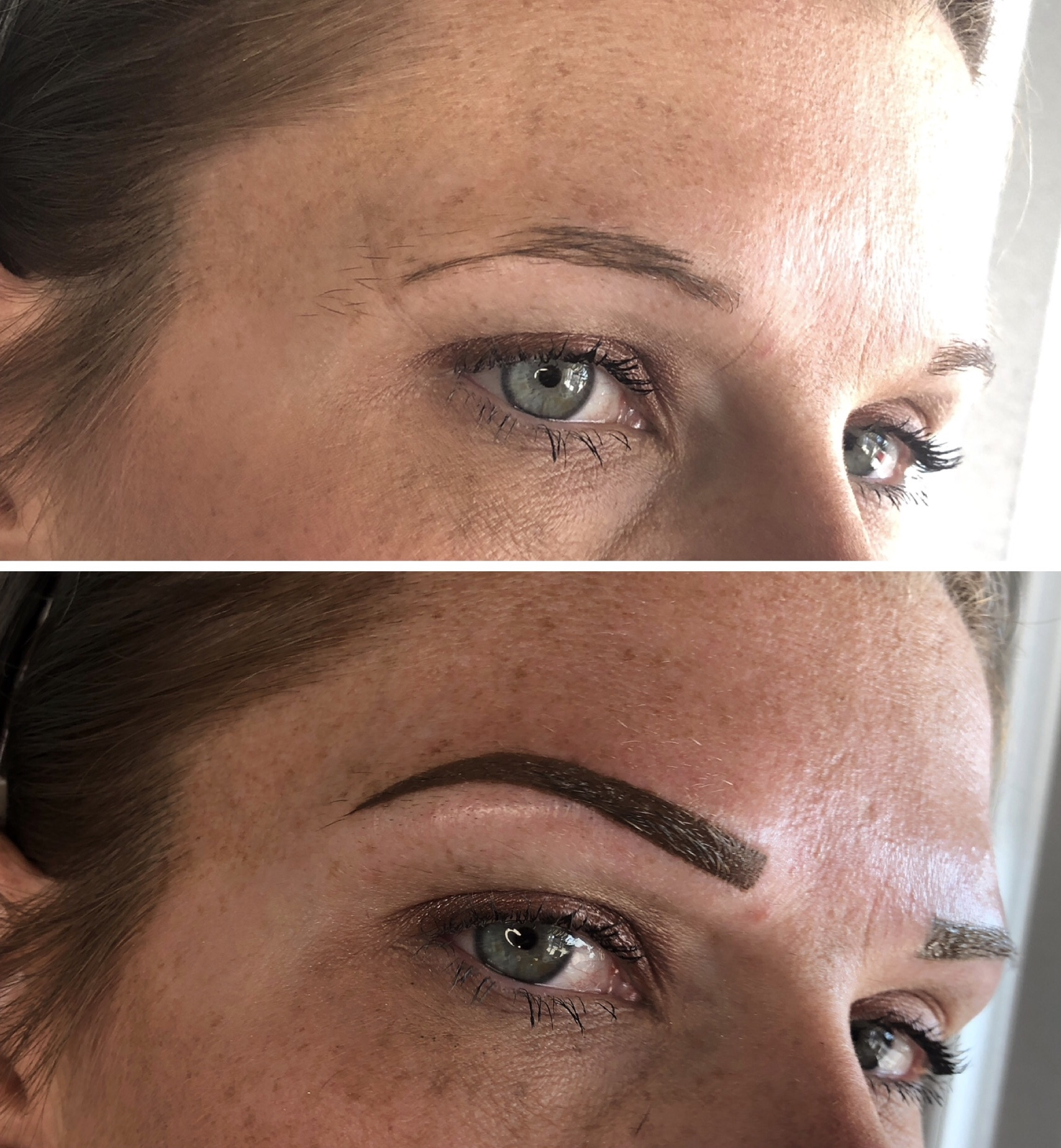 Full Filled Brow - carefully shaped and precisely performed with crisp clean edges and heals to a beautiful powdered brow!