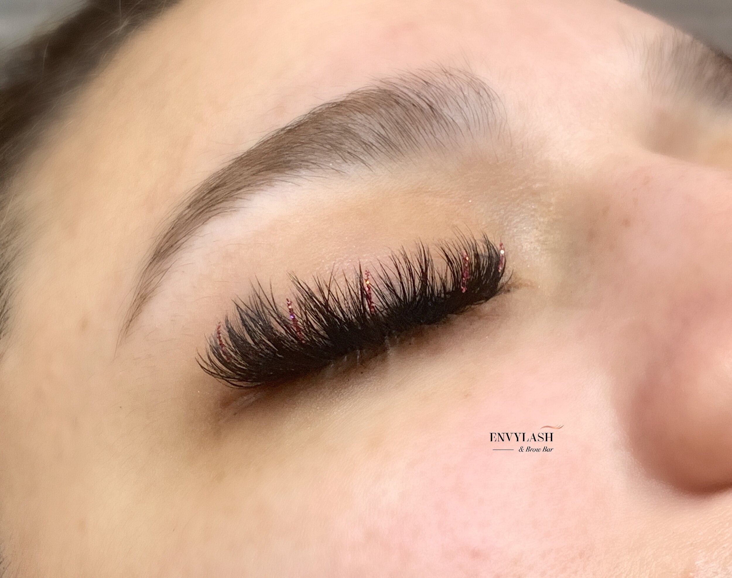 Volume Lashes with our Fabulash Glitter Lashes!