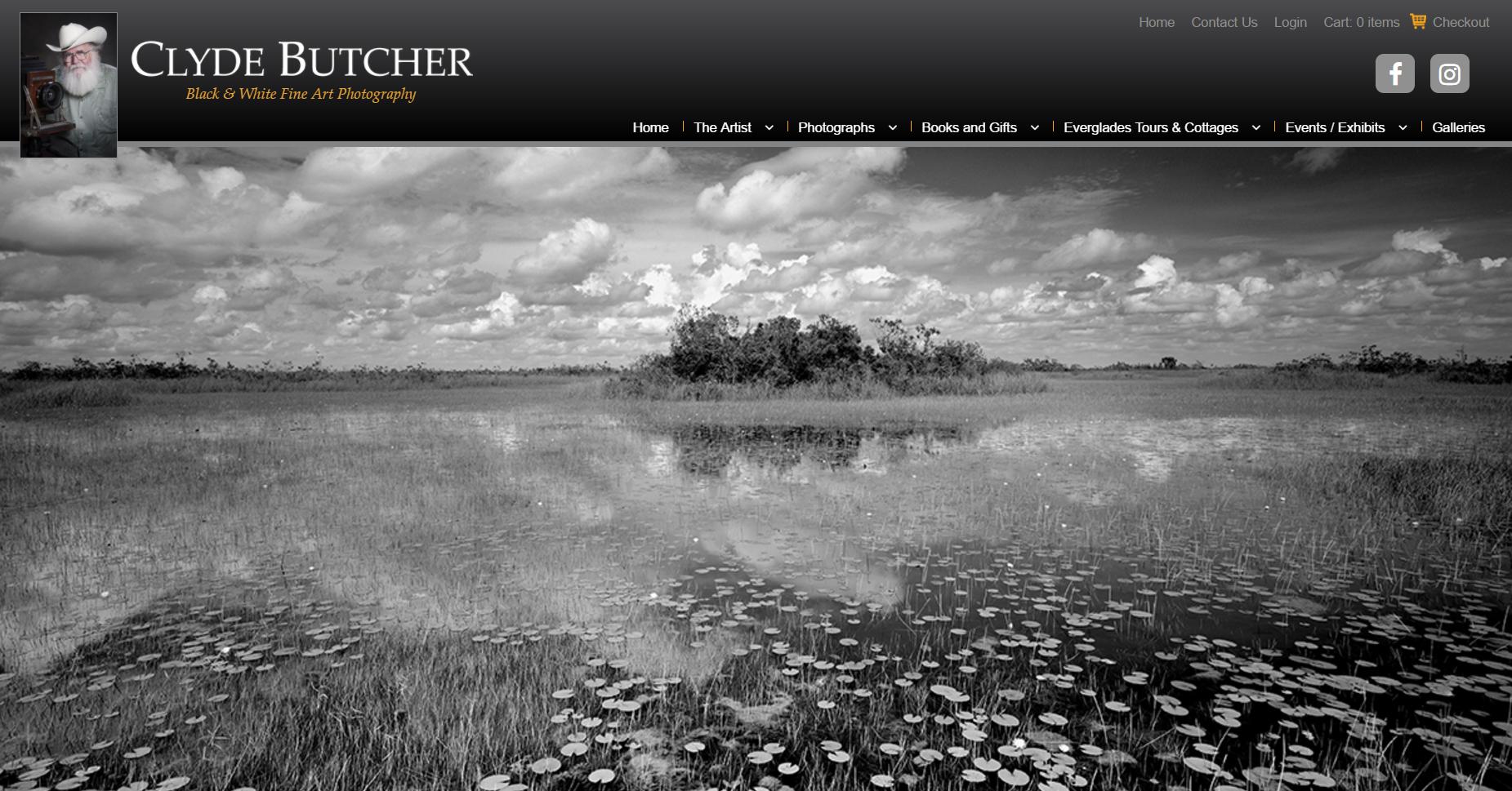 Screenshot from  clydebutcher.com , 2017/6/12
